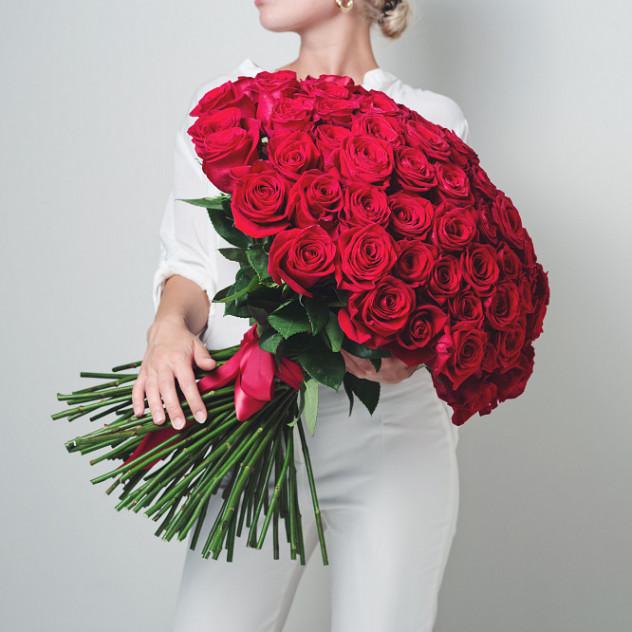 101 Роза Эквадор красная