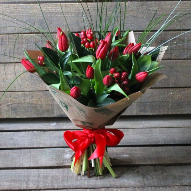 Букет с тюльпанами