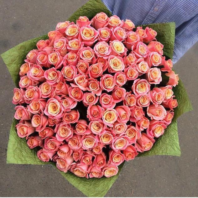 Огромный букет 101 роза